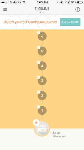 guided meditation headspace app